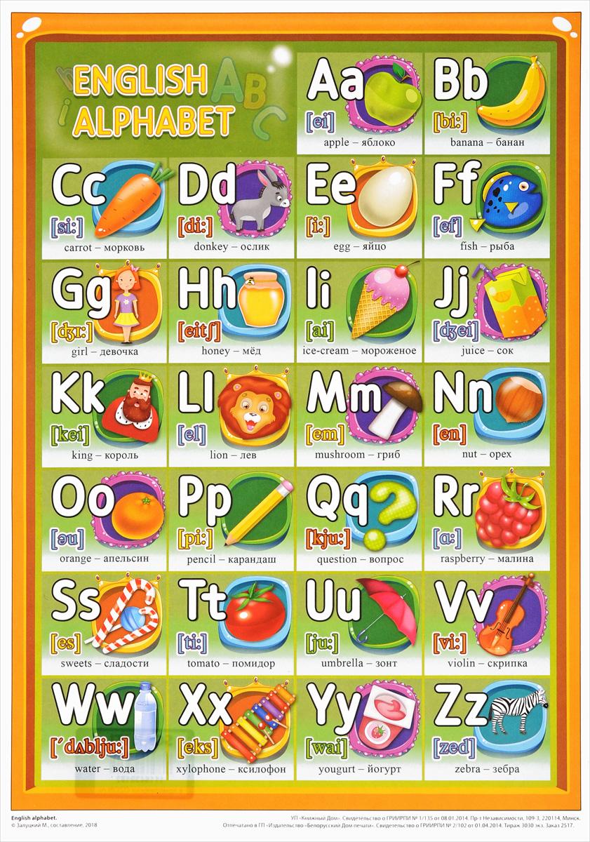 хочет английский алфавит в красочных картинках желаю