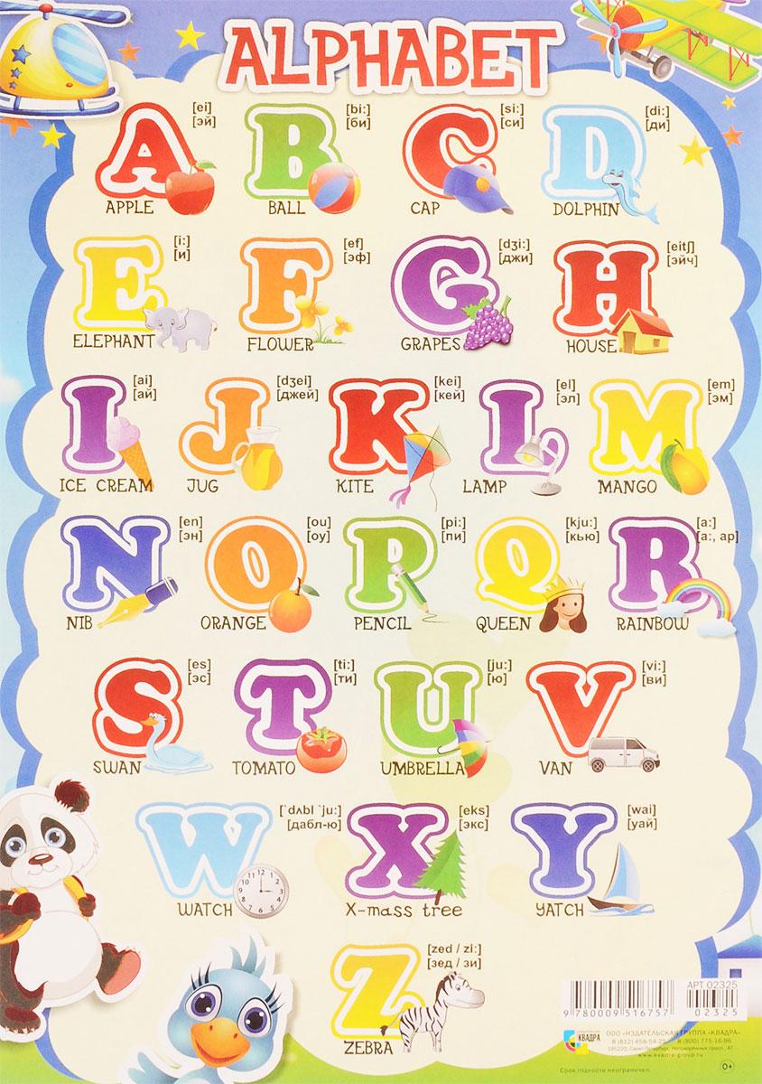 Английская азбука картинки для детей