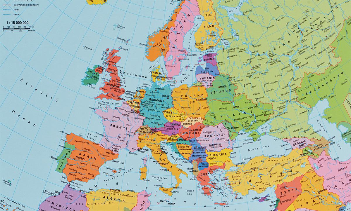 Европа на карте мира границы фото